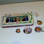TAKE THAT 1993 tin pencil case with stationary AND MARK OWEN BADGES ETC @sold@